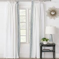 Amberlynn Velvet Leaf Curtain Panel (Right)