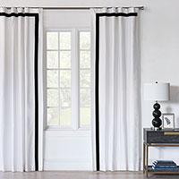 Baldwin White Curtain Panel