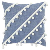Castaway Diagonal Trim Decorative Pillow