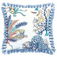 Castaway Brush Fringe Decorative Pillow