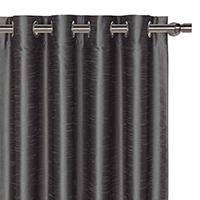 Edris Charcoal Curtain Panel