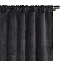 Nellis Charcoal Curtain Panel