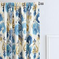Aoki Azure Curtain Panel
