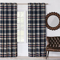 Scout Navy Curtain Panel