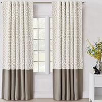 Freya Embroidered Curtain Panel
