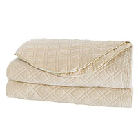 Coperta Diamond Quilted Coverlet in Almond