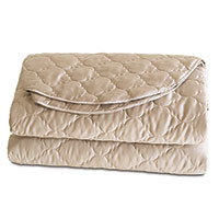 Viola Quilted Coverlet in Sable