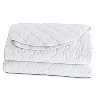 Viola Quilted Coverlet in White
