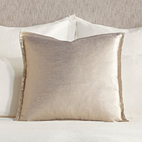 Adrienne Metallic Decorative Pillow In Gold