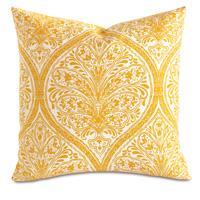 Adelle Percale Decorative Pillow In Saffron