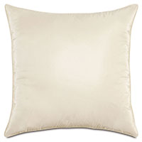 Freda Taffeta Decorative Pillow in Ivory