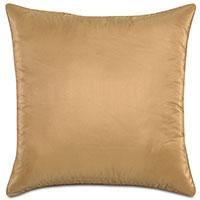 Freda Taffeta Decorative Pillow in Gold