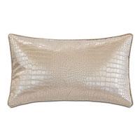 Valentina Faux Snakeskin Decorative Pillow