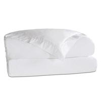 Roma Sateen Duvet Cover in White