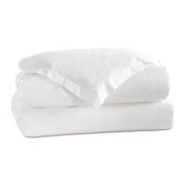 Gianna Hemstitch Duvet Cover in White