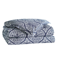 Adelle Percale Duvet Cover In Marine