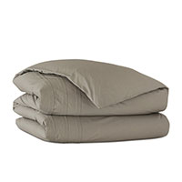 Vail Percale Duvet Cover In Fawn