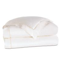 Linea Velvet Ribbon Duvet Cover In White & White
