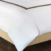 Cornice White/Truffle Duvet Cover
