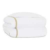 Enzo Satin Stitch Duvet Cover in Sable