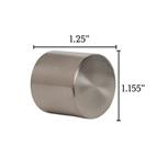 Metallo Nickel Flush End Cap Pair