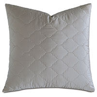 Viola Quilted Euro Sham in Dove
