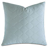 Viola Quilted Euro Sham in Sea