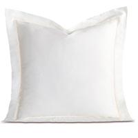 Linea Velvet Ribbon Euro Sham In White & White