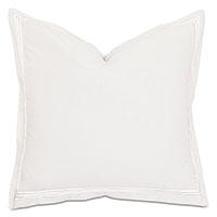 Tessa Satin Stitch Euro Sham in Ivory/White