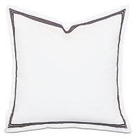 Tessa Satin Stitch Euro Sham in White/Black