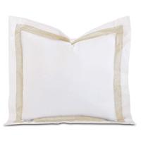 Cornice White/Pearl Euro Sham
