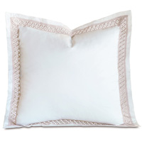 Juliet Lace Euro Sham in White/Fawn