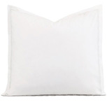 Enzo Satin Stitch Euro Sham in White