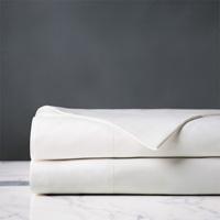 Gianna Hemstitch Flat Sheet in White