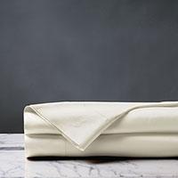 Deluca Sateen Flat Sheet in Ivory