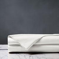 Deluca Sateen Flat Sheet in White