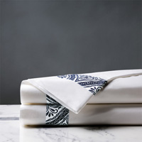 Adelle Percale Flat Sheet In Marine