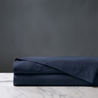 Shiloh Linen Flat Sheet in Indigo