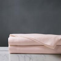 Shiloh Linen Flat Sheet in Petal