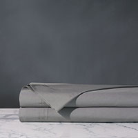 Vail Percale Flat Sheet In Heather