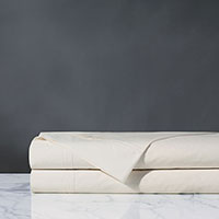 Vail Percale Flat Sheet In Ivory