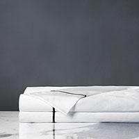 Linea Velvet Ribbon Flat Sheet in Black