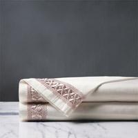 Juliet Ivory/Fawn Flat Sheet