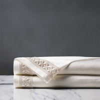 Juliet Ivory/Ivory Flat Sheet