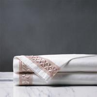 Juliet White/Fawn Flat Sheet