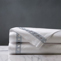 Celine Lace Flat Sheet in Silver