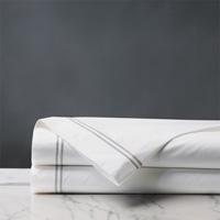 Enzo White/Silver Flat Sheet
