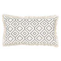 Freya Embroidered Decorative Pillow