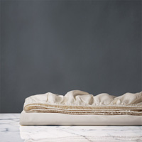 Nuvola Luxe Ecru Fitted Sheet