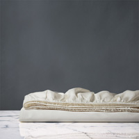 Nuvola Sateen Fitted Sheet In Ivory